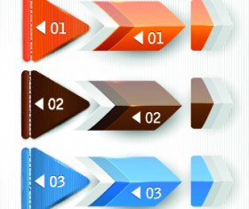 Banners with numbers Creative design 03