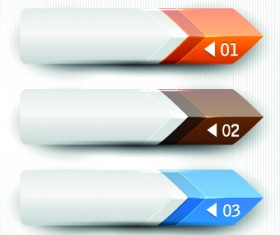 Banners with numbers Creative design 04