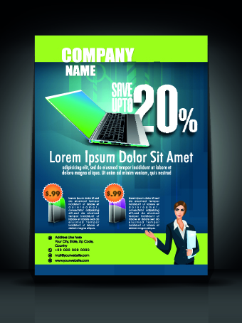 Exquisite Business Flyer Template Free Download - Business advertising flyers templates free