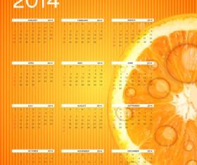 2014 new year calendar design vector 04