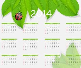 2014 new year calendar design vector 05