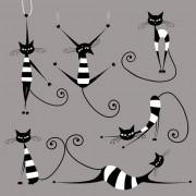 Link toVector amusing cats design set 04