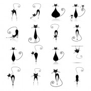 Link toVector amusing cats design set 05