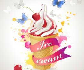 Sorts of Ice Cream design elements 01