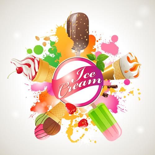 Sorts Of Ice Cream Design Elements 02 Free Download