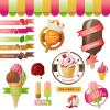 Sorts of Ice Cream design elements 03