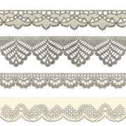 Link toVintage lace ribbons vector 01