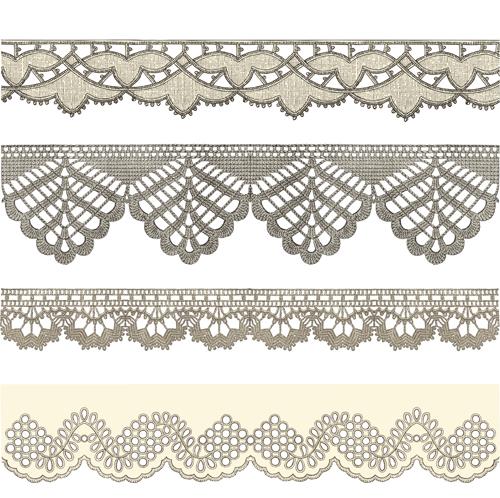 Vintage Lace ribbons vector 01 - Vector Frames & Borders, Vector ...