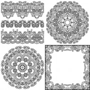 Link toVintage lace ribbons vector 02