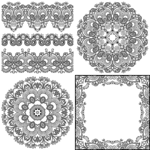 Vintage Ribbon Vector Free Vintage Lace Ribbons Vector 02