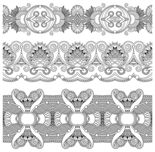 Vintage Ribbon Vector Free Vintage Lace Ribbons Vector 03