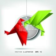 Link toColor origami birds background illustration 05