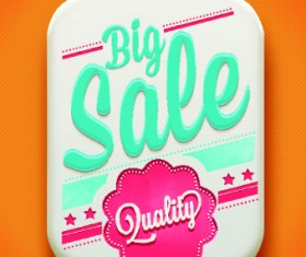 Classic sale tag vector 01