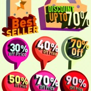 Link toClassic sale tag vector 05