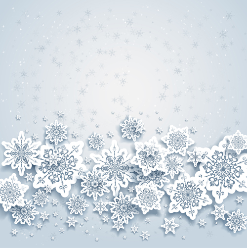 Paper snowflakes vector backgrounds 01 vector background free
