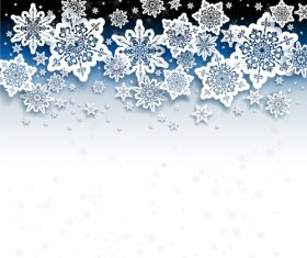 Paper snowflakes vector backgrounds 02
