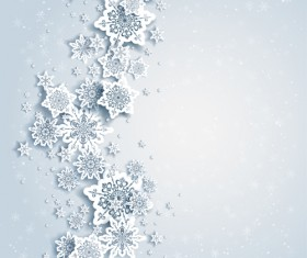 Paper snowflakes vector backgrounds 03