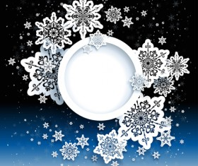 Paper snowflakes vector backgrounds 04