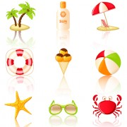 Link toSummer travel elements icons vector 03