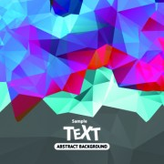 Link toAbstract triangle background vector 01