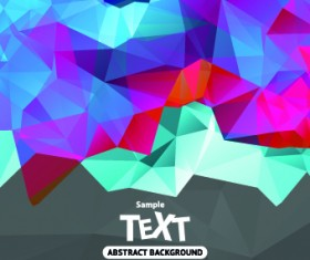Abstract triangle background vector 01