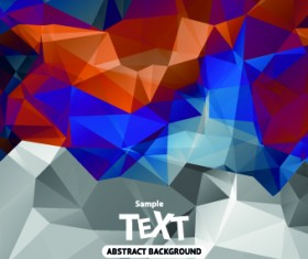 Abstract triangle background vector 02