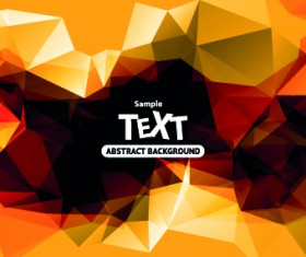 Abstract triangle background vector 03