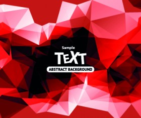 Abstract triangle background vector 04