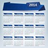 2014 Calendar grid vector design 01