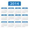 2014 Calendar grid vector design 02