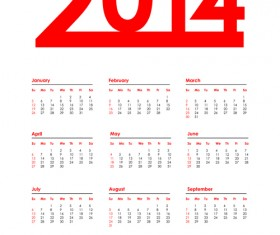 2014 Calendar grid vector design 05