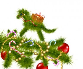 2014 Christmas Horse design elements vector 01