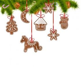 2014 Christmas Horse design elements vector 02