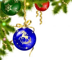 2014 Christmas Horse design elements vector 03