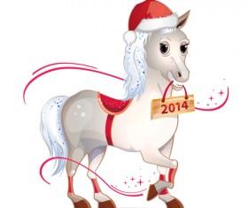 2014 Christmas Horse design elements vector 05
