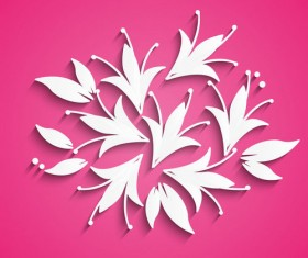 White paper flower vector 03