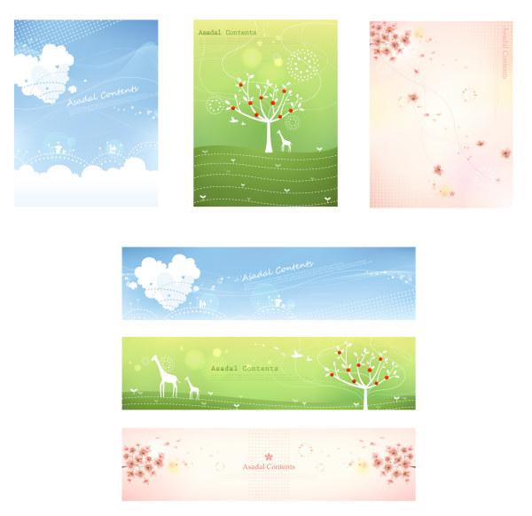 Elegant floral banner vector