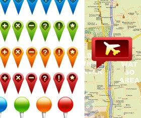 GPS icons psd graphic