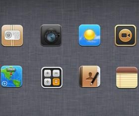 Exquisite app icons psd graphic