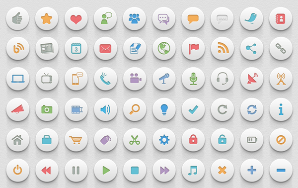 3D commonly icons psd