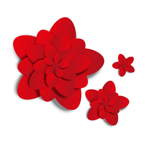 Red paper flower vector free download red paper flower vector mightylinksfo