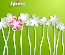 Spring style paper flower vector