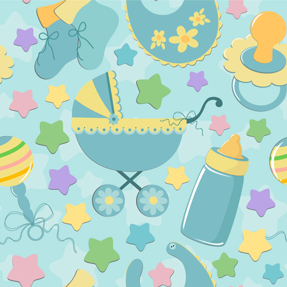 Baby Cute Background Vector Vector Background Free Download