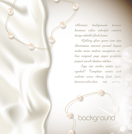 Silk with Pearl background vector