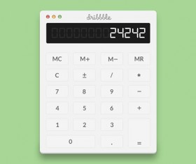 Calculator psd