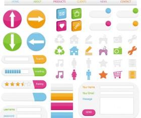 Website login boxes design vector 02