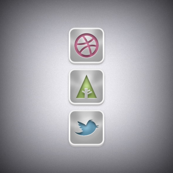 Web media icons psd