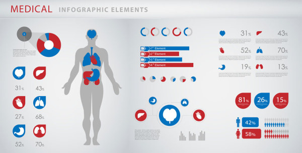 Medical infographics creative design vector 04