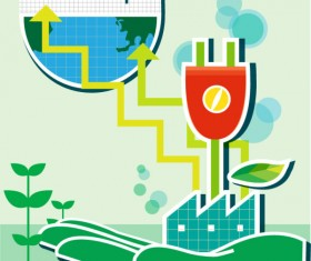 Energy with Environment infographics vector 01