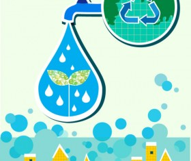 Energy with Environment infographics vector 02
